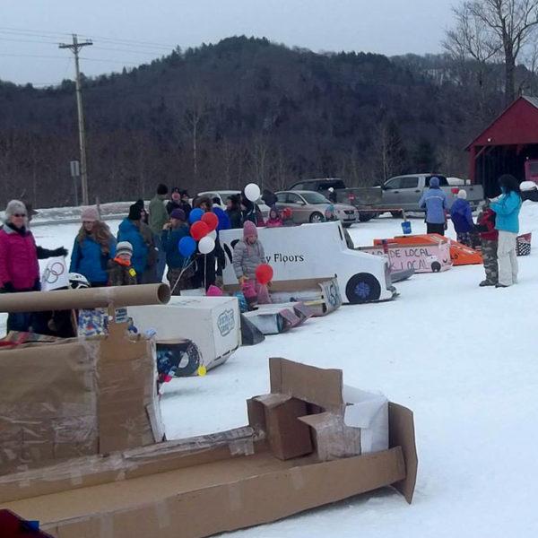 Northeast Slopes Annual Cardboard Box Race - Corinth, Vermont