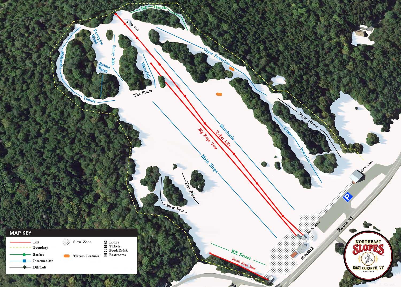 Northeast Slopes Ski Trails Map