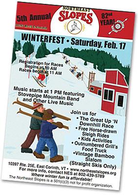 Northeast Slopes Winterfest 2018 Poster