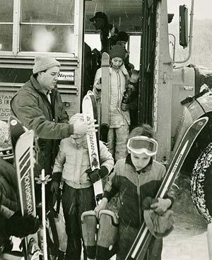 Northeast Slopes Vermont vintage photo-ski day for kids!