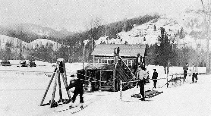 Northeast Slopes Vermont vintage photo-old tow